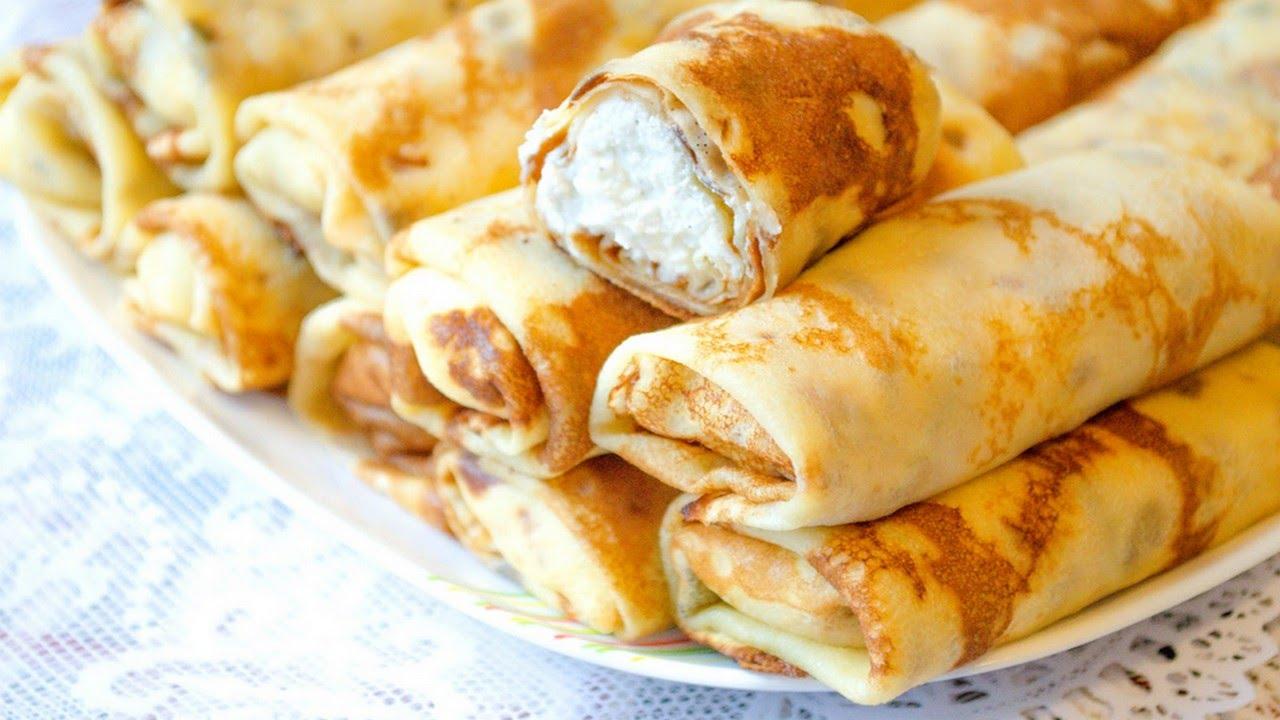рецепт блинов с сыром