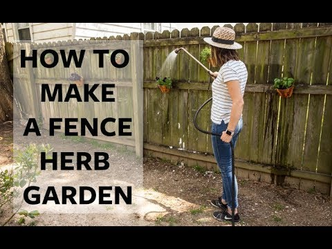 Our Richmond Fixer Upper: How To Make A Fence Herb Garden