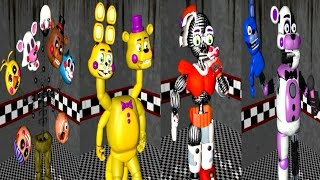All Damaged Animatronics and Jumpscares  Five Nights At Gipsys
