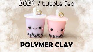 Boba / Bubble Tea Polymer Clay Charm Tutorial!