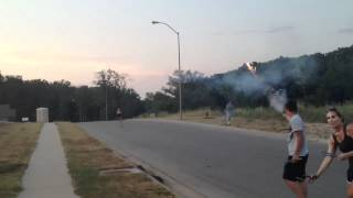 4th of July Roman Candle Fight