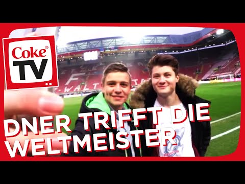 Dner und Björn schnuppern Weltmeisterluft | #CokeTVMoment