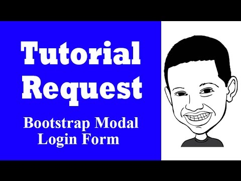Tutorial Request Series Bootstrap Modal Login Form  Answered