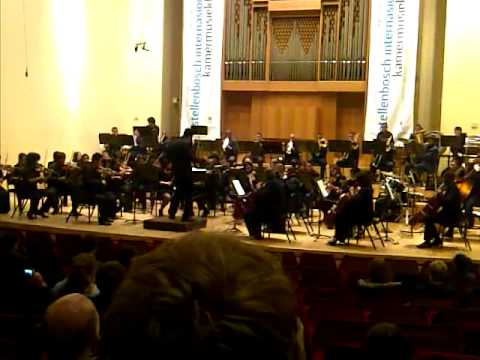 Cape Philharmonic Youth Orchestra at Stellenbosch International Chamber festival 2012  YouTube