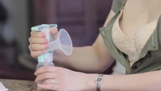 One Hand Manual Breast Pump Purely Yours by Ameda