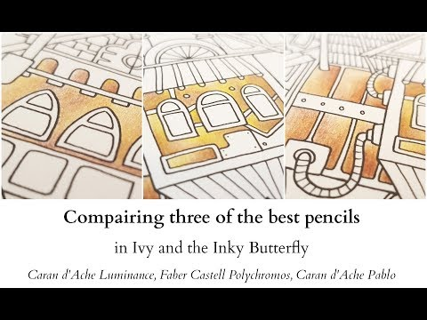 Compairing three of the best pencils in Ivy and the Inky Butterfly