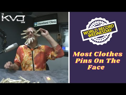 World Record Wednesday - Most Clothes Pins On The Face