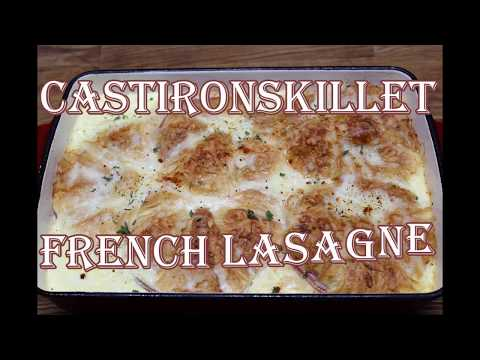 French Lasagne! croissant ham and cheese casserole (Episode-110)
