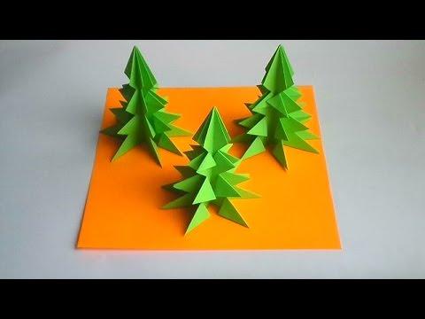 оригами елка на новый год, оригами елочка // paper origami christmas tree смотреть в хорошем качестве