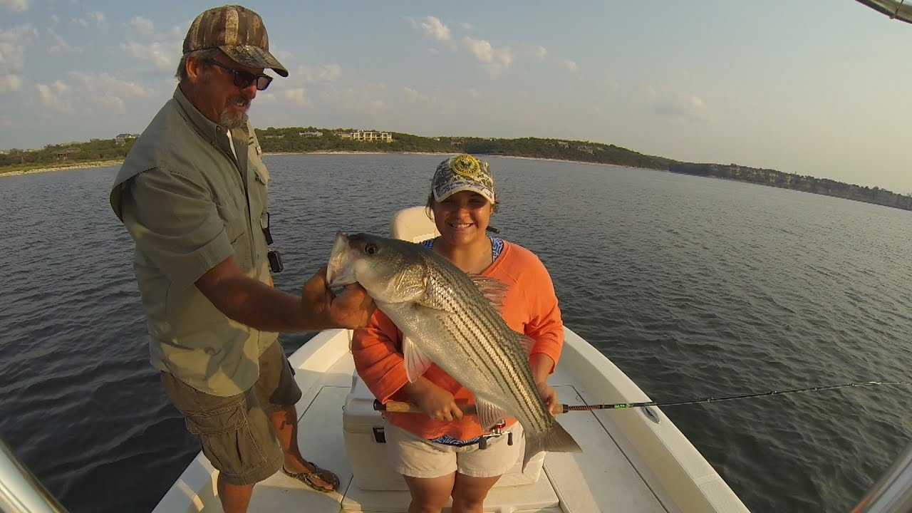 Southwest Outdoors Report #23 Possum Kingdom Lake, Texas Striped Bass - 2013