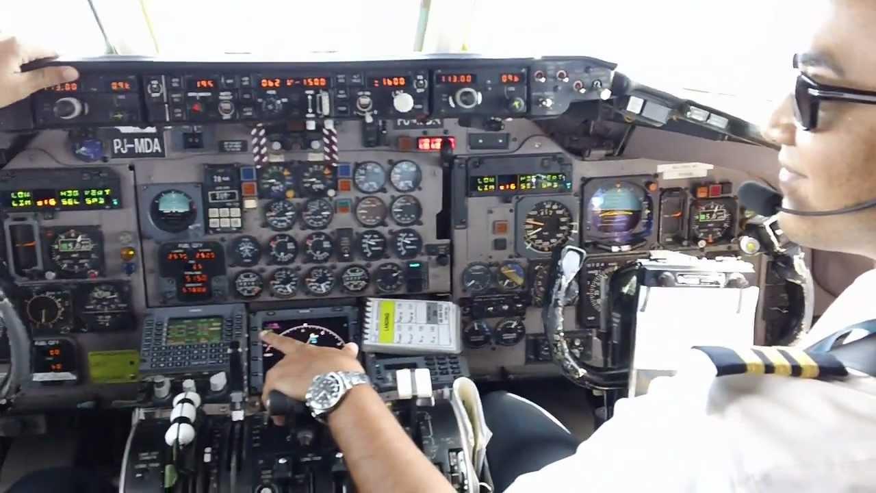 Amazing Juliana Airport St Maarten Md 80 Cockpit Video