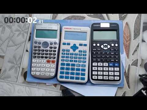 Speed Test: Casio Fx-570VN Plus, Vinacal Fx-570ES Plus 2 Và Casio Fx-580VNX