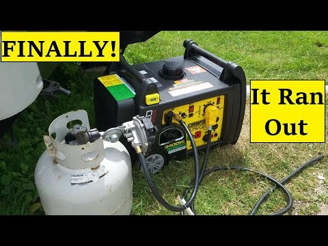 RV Generator Finally Out of Propane