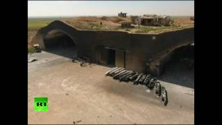 Сирийская база Шайрат: видео с беспилотника