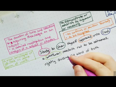 How To Study The Bible - Verse Mapping - Demo - 2 Timothy 2:15