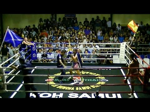 "Jordan ""Deachkalek"" Coe VS Alex Jun Muay Thai: Phetchbuncha Stadium, Koh Samui, 9th Aug 2014"