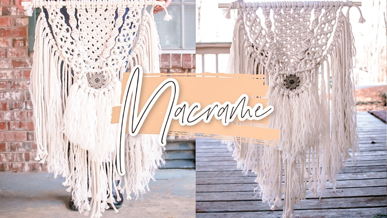 How To Diy Macrame Wall Hanging Youtube