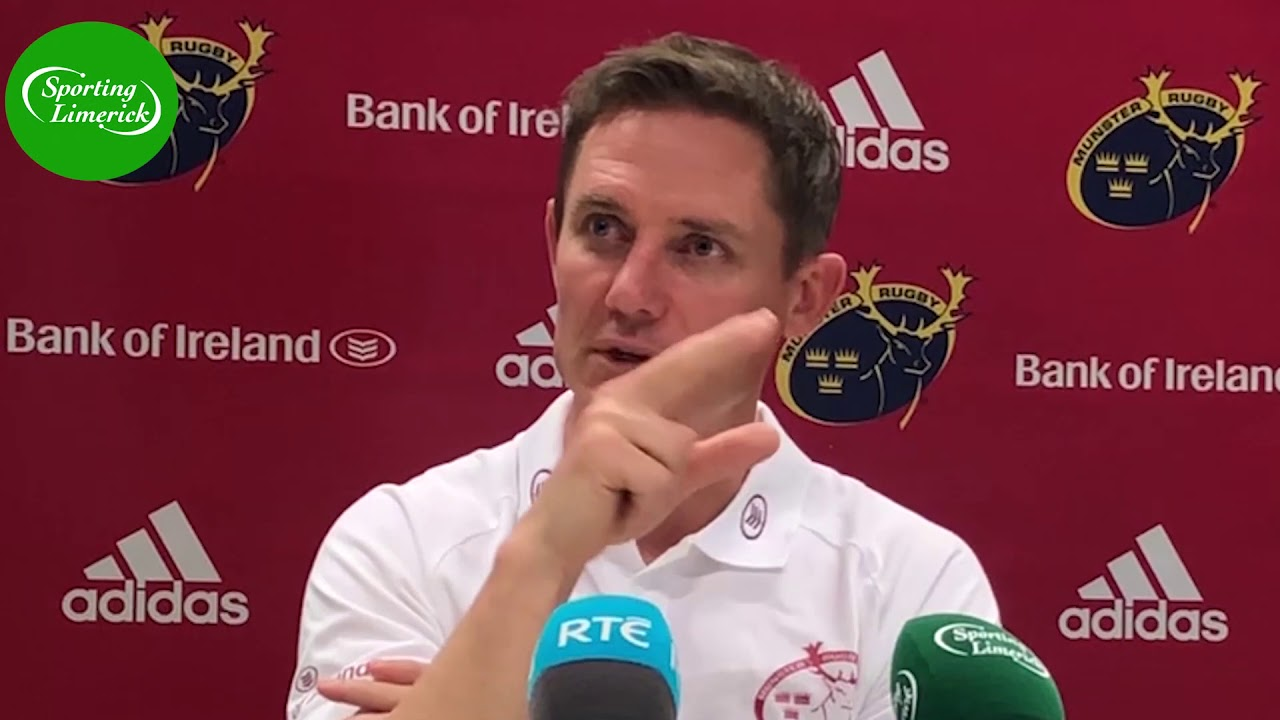 Stephen Larkham on settling in and where Munster's attack needs to improve