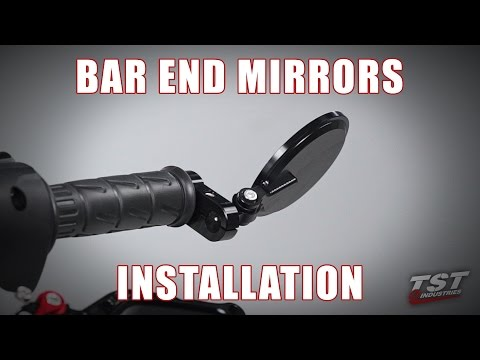 How to install Womet-Tech Bar End Mirrors on a motorcycle handlebar by TST Industries