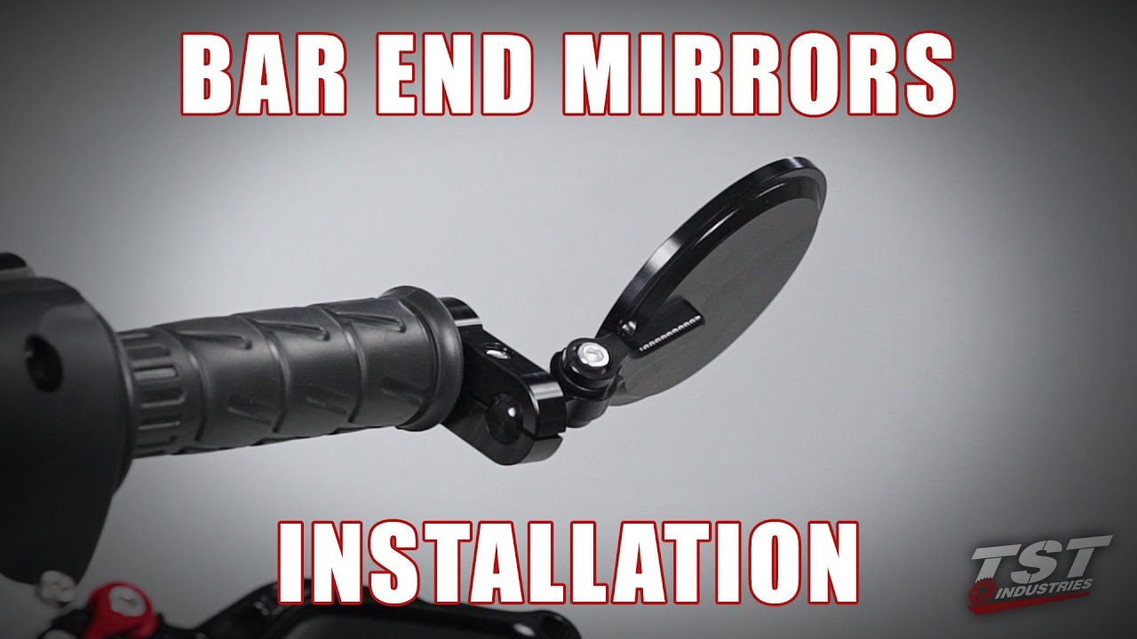 how to install cnc bar end mirrors