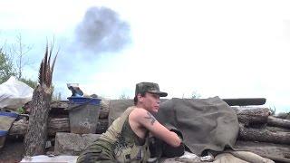 Видео обстрела пригорода Горловки. Нарушенное перемирие. Новости Новороссии.