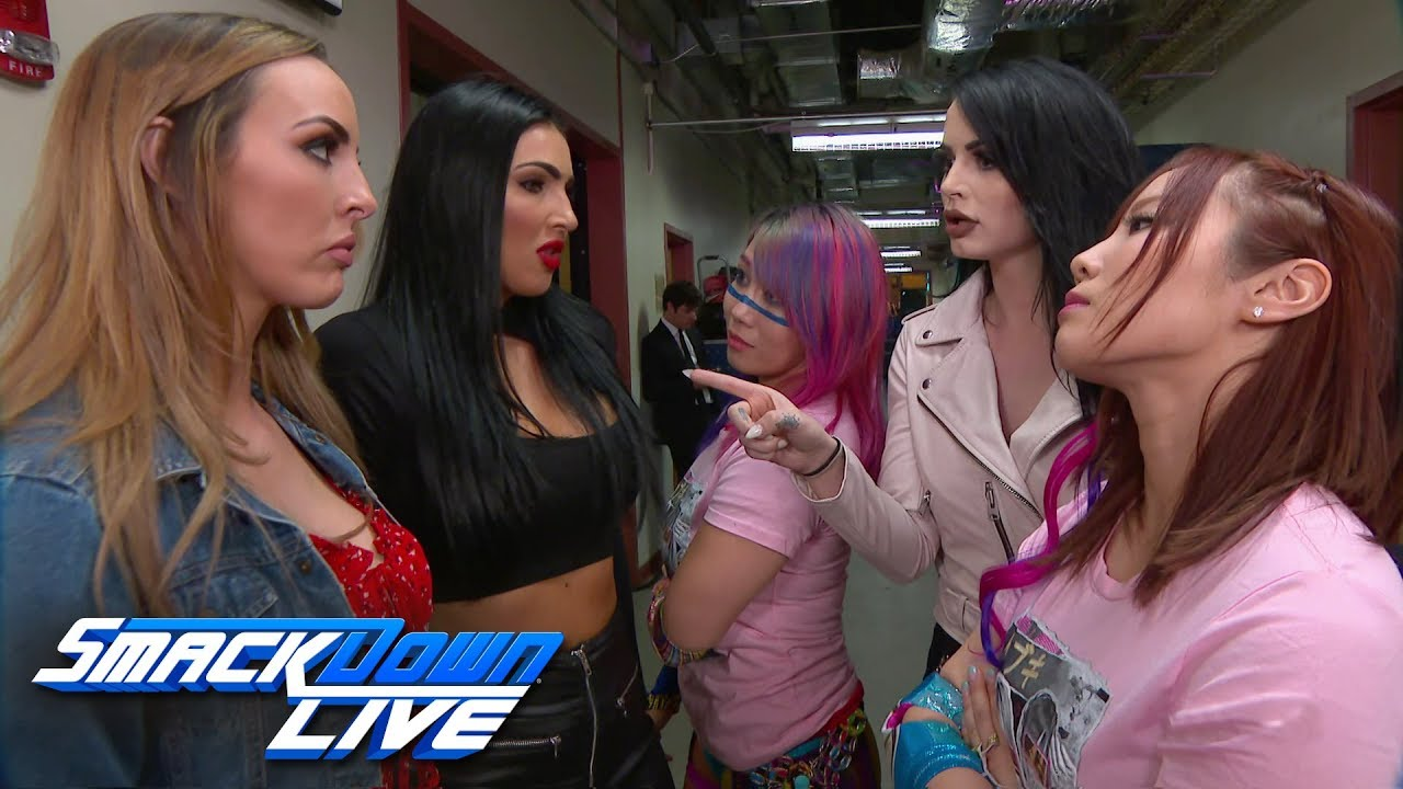 The Kabuki Warriors & Paige confront The IIconics: SmackDown LIVE, July 9, 2019