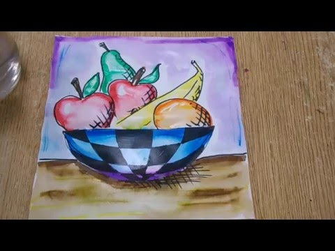 Kids Art Project Still Life Drawing Youtube