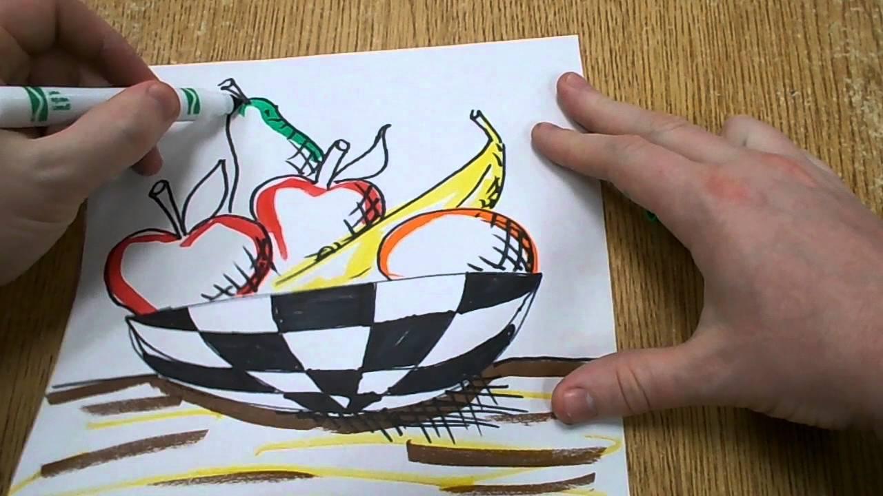 Kids Art Project Still Life Drawing Youtube