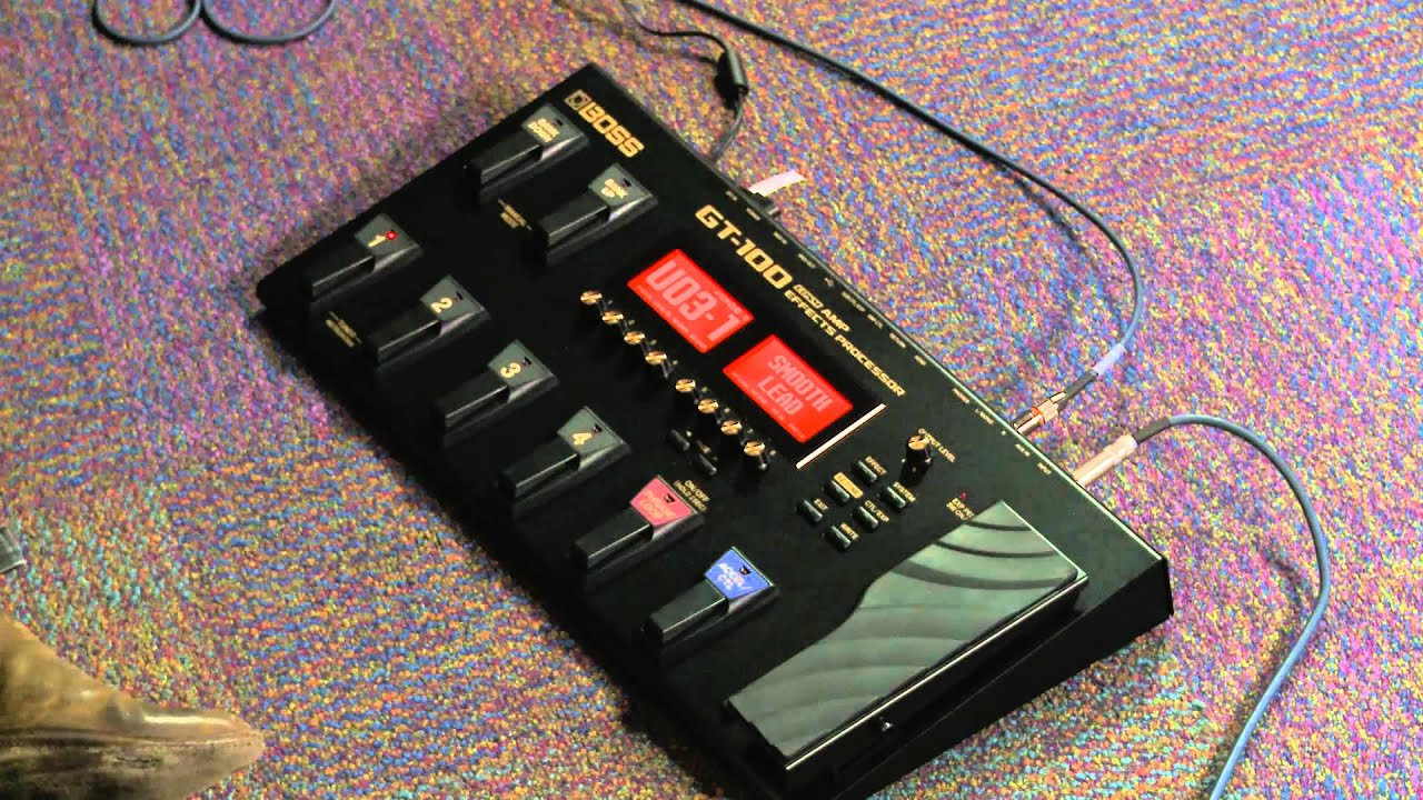 Boss Gt 100 Guitar Amp Simulator Multi Effects Processor