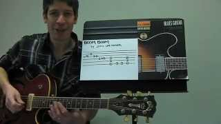 "Easy Guitar PLAY-ALONG Lesson : ""Boom Boom"" by John Lee Hooker !"
