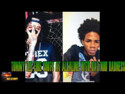 TOMMY LEE FIRE SHOTS AT ALKALINE (NOT AH BADNESS)
