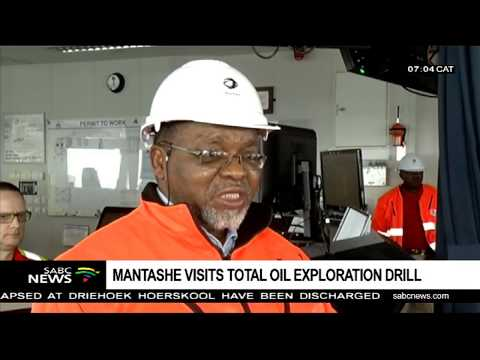 Mantashe visits the Total Oil Exploration Drill in Mossel Bay
