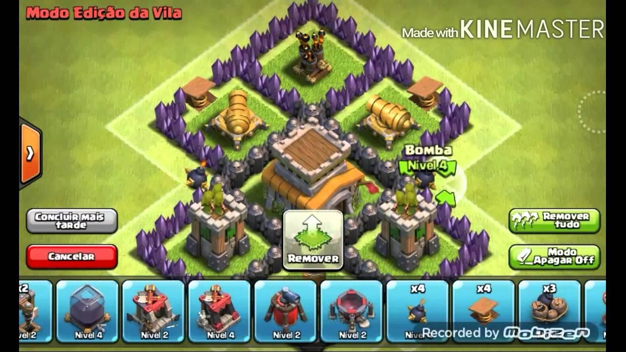 clash of clans layout de guerra para cv4 youtube - Layout Cv 4 Guerra