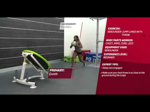 Fitness First Freestyle exercise - Rebounder Jump Lunge with Throw - Medicine Ball