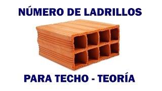 CALCULAR EL NÚMERO DE LADRILLOS PARA TECHO - TEORÍA