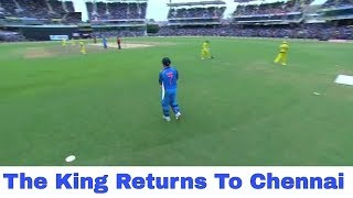 M.S Dhoni Enter In Chepauk Stadium And Fan Gone Crazy - completes milestone of 100th Half-century