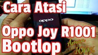 Cara atasi Oppo Joy R1001 Bootlop || Aman Tanpa Mati Total ||