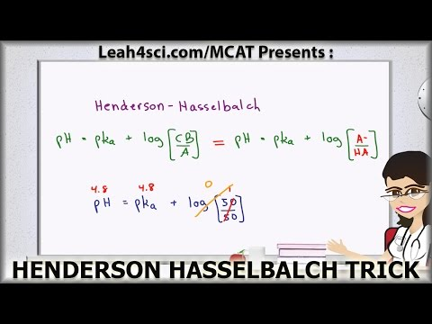 Henderson Hasselbalch MCAT Trick for Buffer pH Without a Calculator