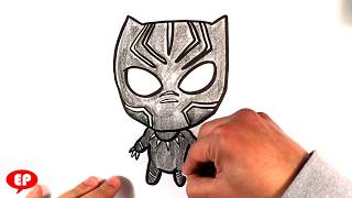 panther easy draw drawing drawings cartoon simple marvel panthers