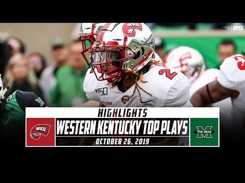 Western Kentucky Football Top Plays Vs. Marshall (2019) | Stadium