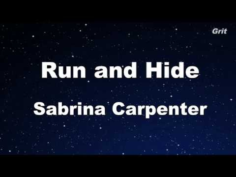Run and Hide - Sabrina Carpenter Karaoke 【No Guide Melody】 Instrumental