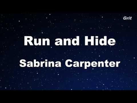 Run and Hide - Sabrina Carpenter Karaoke 【No Guide Melody】 Instrumental