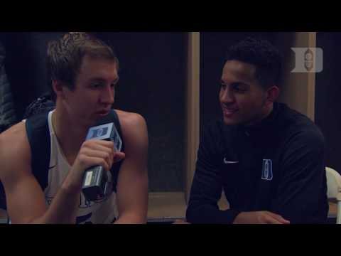 DBP: Luke Kennard with Frank Jackson after the Penn State win