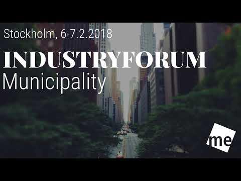 IndustryForum Municipality 2018 in Stockholm