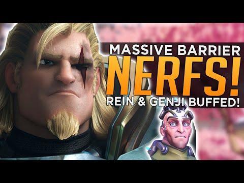 Overwatch: MASSIVE Barrier NERFS! - Reinhardt & Genji BUFFED!