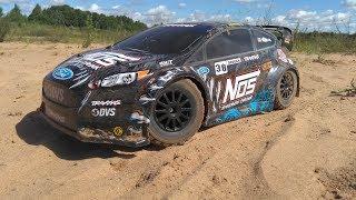 Тюнинг Раллийки ... Traxxas Nos Deegan #38 Ford Fiesta На Бесколлекторной Системе