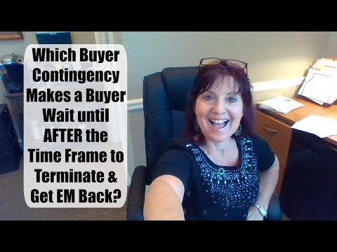 When to Terminate a Buyer Contingency to Get Earnest Money Back?