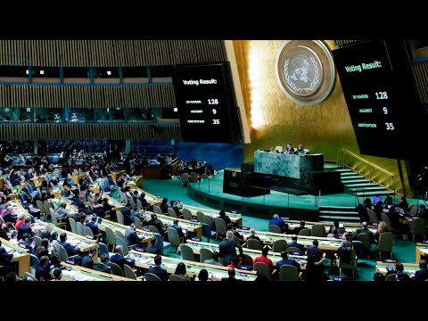 The moment the UN votes to reject Trump's position on Jerusalem