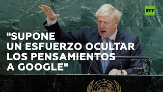 Boris Johnson advierte sobre un posible futuro distópico fruto de los avances tecnológicos
