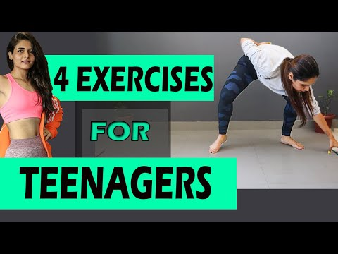 4 BEST WORKOUT FOR TEENS AT HOME || WEIGHT LOSS FOR TEENAGE GIRL